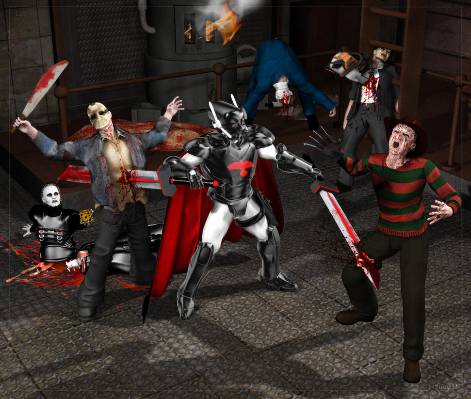Bardak vs Evil Slashers by atomskmaster6