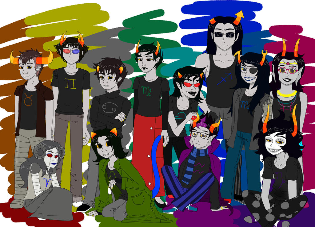 HomeStuck: All dem trolls by Cheeco6247