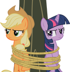 Applejack-Twilight - Tied to a Tree