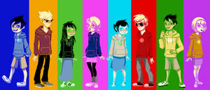 Hoodiestuck Kids by keltzy
