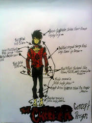 The Creeper ~Cosplay Concept Art~ Mapped out by InsaneAsylum123