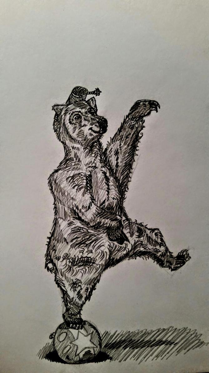 Realistically Drawn Rush-in Bear Sketch by InsaneAsylum123
