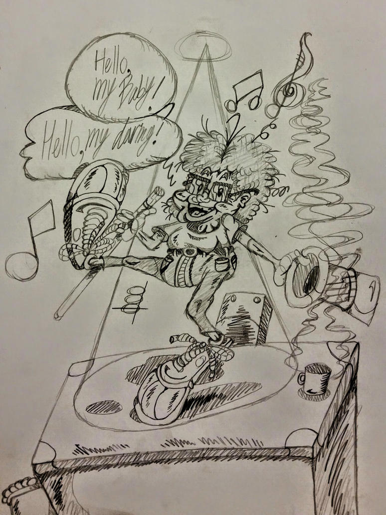 Random Teacher Caricature Sketch by InsaneAsylum123