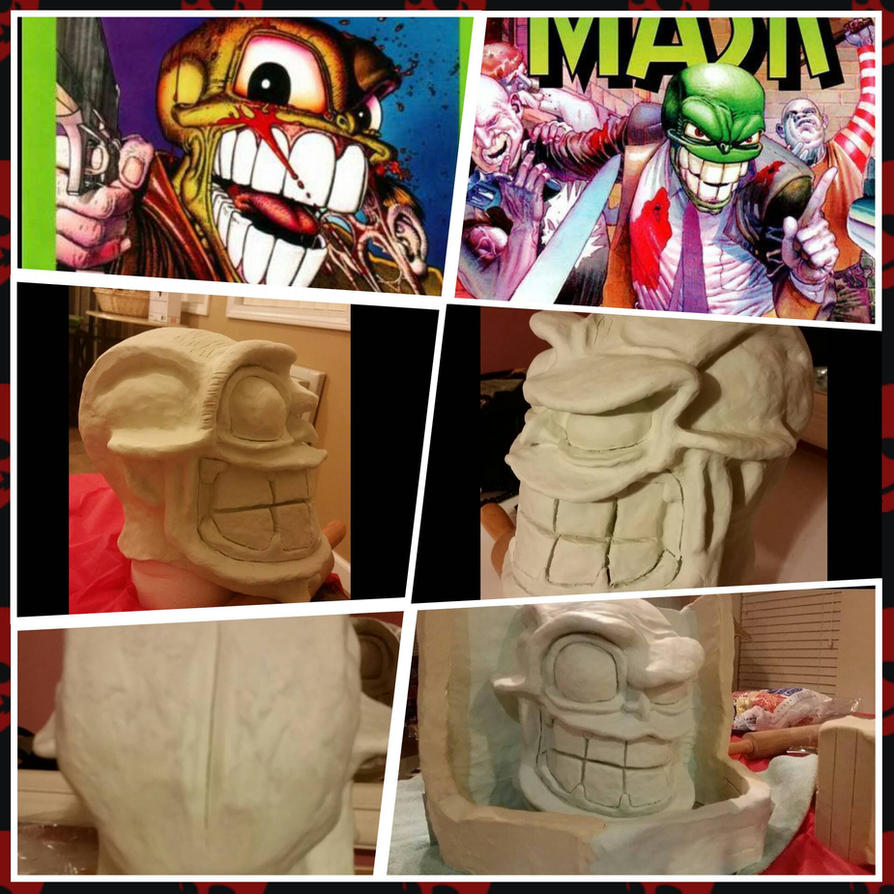 My Failed Bighead Latex Mask Project  by InsaneAsylum123