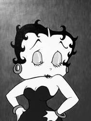 Fleischer's Betty Boop (Black  White) by InsaneAsylum123