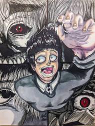 Tokyo Ghoul: Losing Myself (Tattoo Design) by InsaneAsylum123