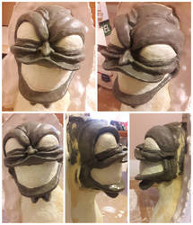 The Mask's Big Head Sculpture-2nd Latex Attempt by InsaneAsylum123