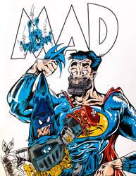 Batboy v Superduperman (EC Mad Logo/Cover)