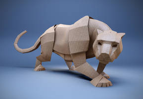 Origami Cat by mx