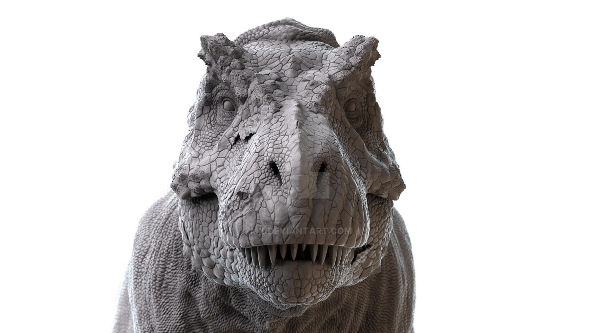 T-rex head front by mx on DeviantArt