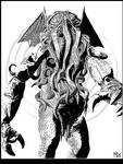 Cthulhu black and white