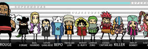 One Piece: Chibi Supernovas by LadyDeadPooly