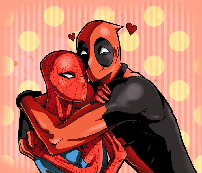 Image result for deadpool hug