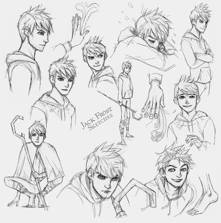 Jack Frost Sketches by LadyDeadPooly