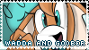 Wadda and Goober Stamp by Dorkeus