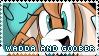 Wadda and Goober Stamp by Dorkeus