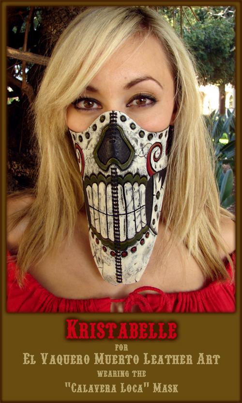 Calavera Loca Half-Mask by ElVaqueroMuerto