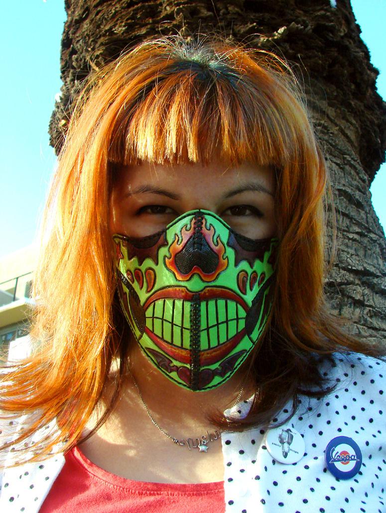 Nacho's Derby Half Mask by ElVaqueroMuerto
