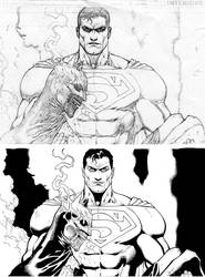 Final Crisis pencil to ink by SexualMustard