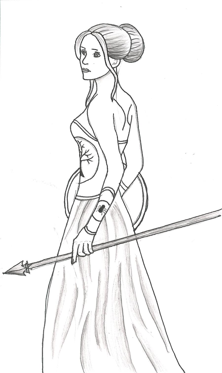 Athena greek goddess drawing
