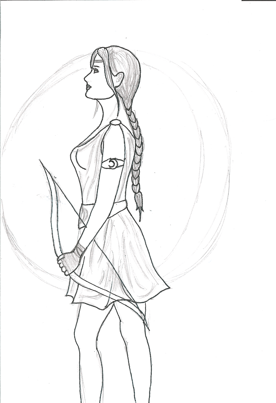 Artemis Goddess Drawing | www.pixshark.com - 458.3KB