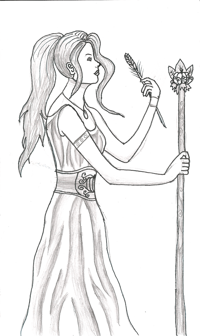 demeter greek goddess drawing - photo #6