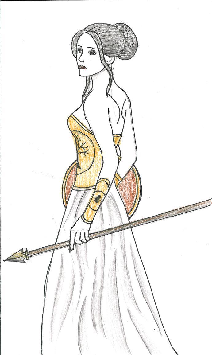 Lady Athena- lite color by FlameFireheart on DeviantArt