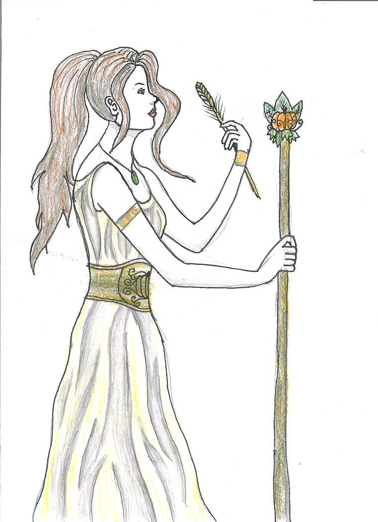demeter greek goddess drawing - photo #2