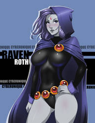 Raven Roth Colored by cyberunique