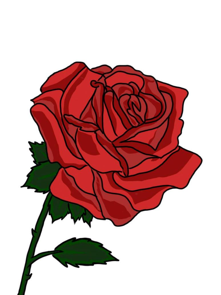 Just a rose by THfreaken