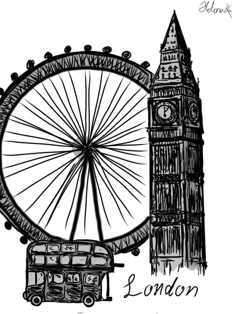 Quick messy London sketch  by THfreaken