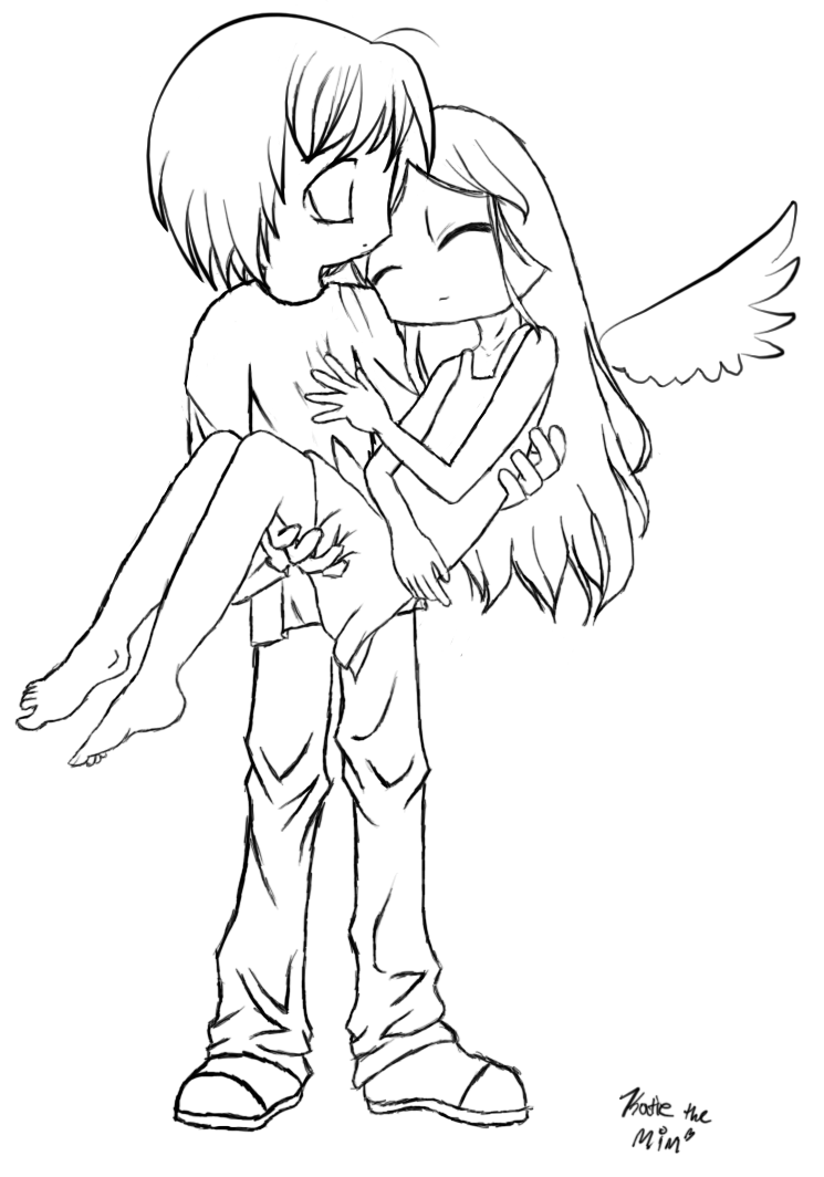anime coloring pages angels - photo#32