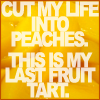 ::CUT MY LIFE INTO PEACHES::