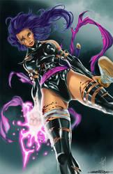 Psylocke Colors by alvinsanity