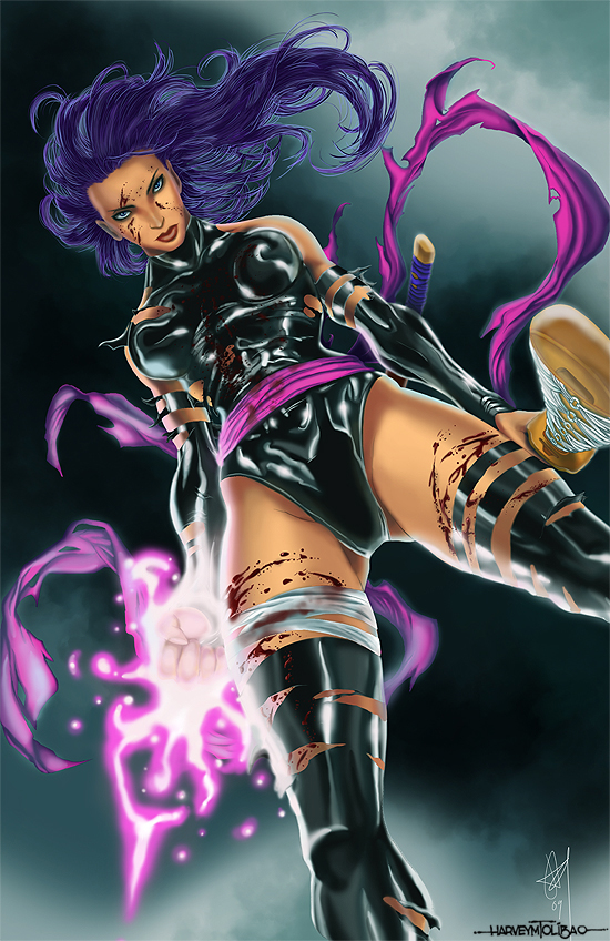 Psylocke Colors by alvinsanity