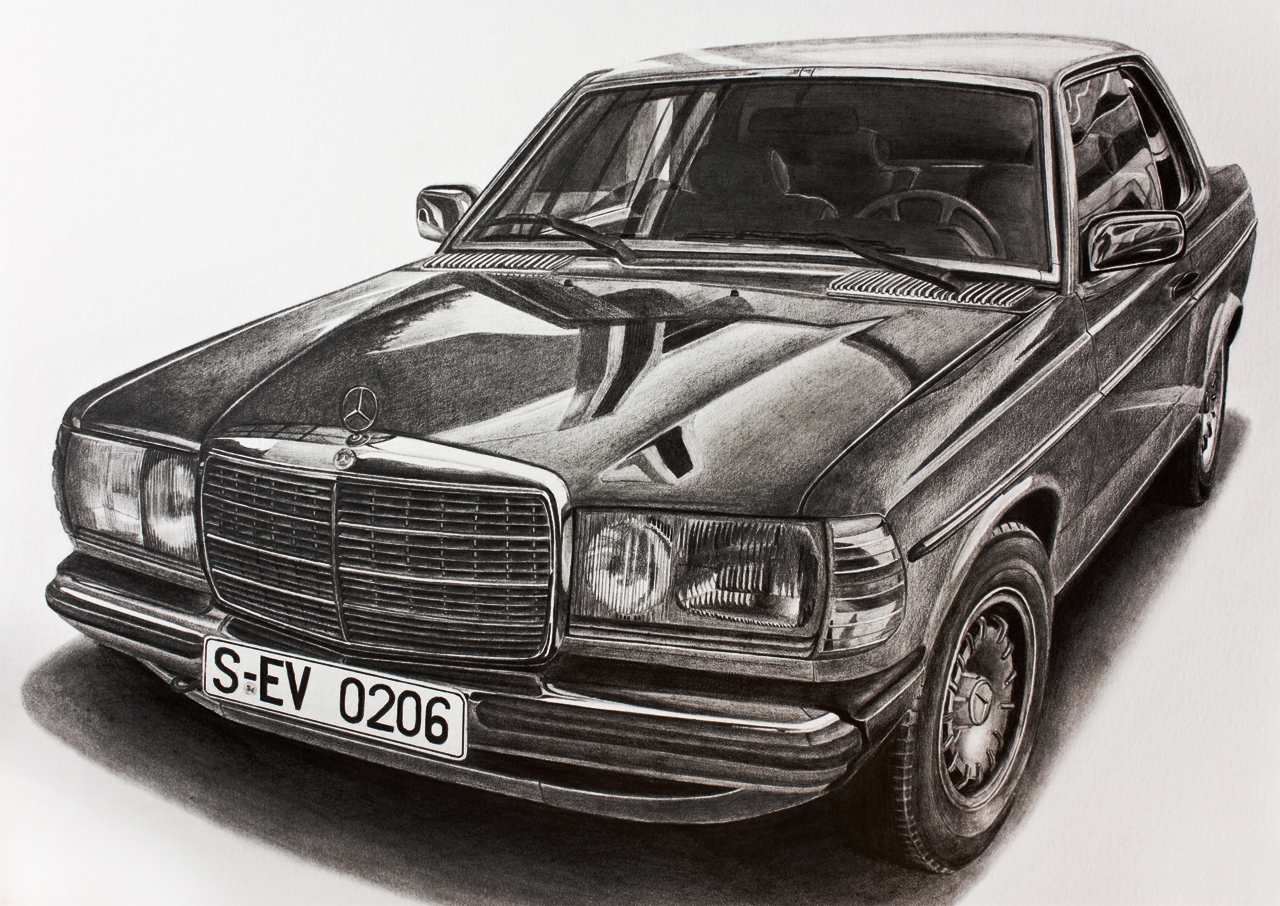 Speed drawing: Mercedes-Benz G Class / Быстрое рисование. Мерседес ...