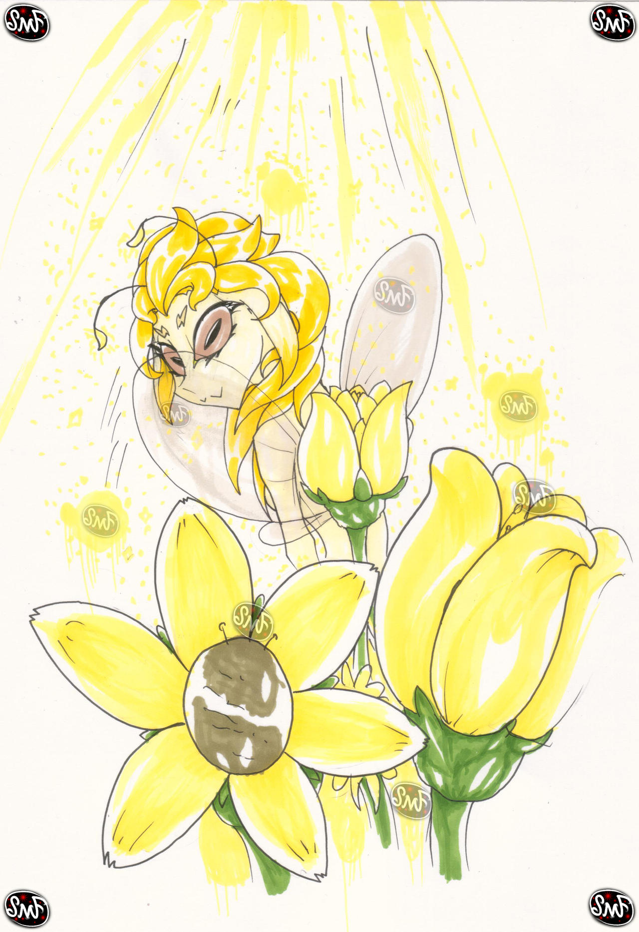 Day 3: Yellow Flowers by SomeMonsterFangirl