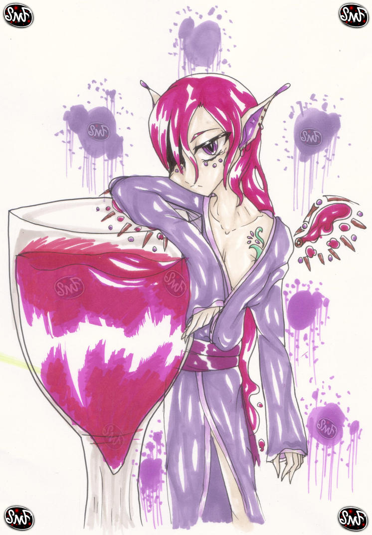 Day 6: Wine by SomeMonsterFangirl