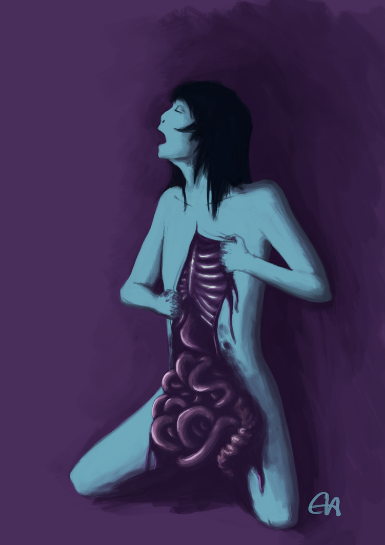 Goretober 7: Gut Spill by temary44