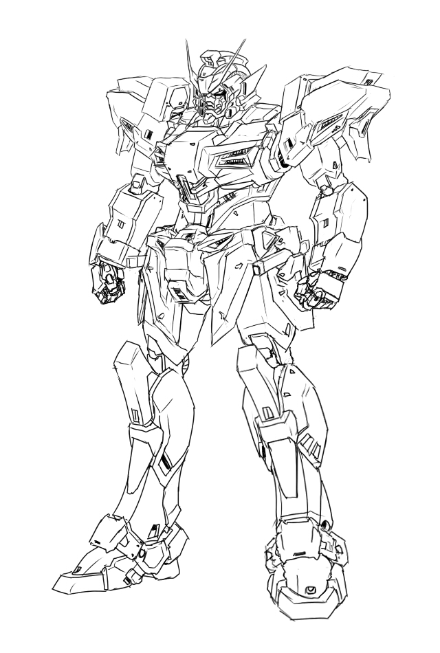 1st Time Drawing A Gundam By Oxoxoxo On Deviantart