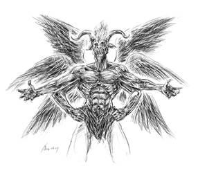 Satan by oxoxoxo