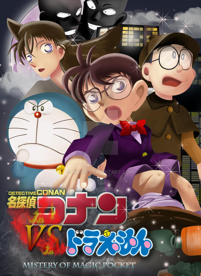 Detective Conan VS Doraemon by rikips