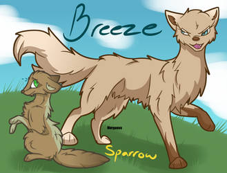 Breeze and Sparrow redesign by Mo-fox