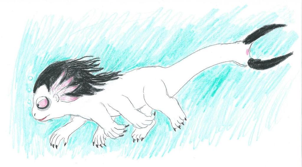 Swimmin' Wormy by furbearingbrick