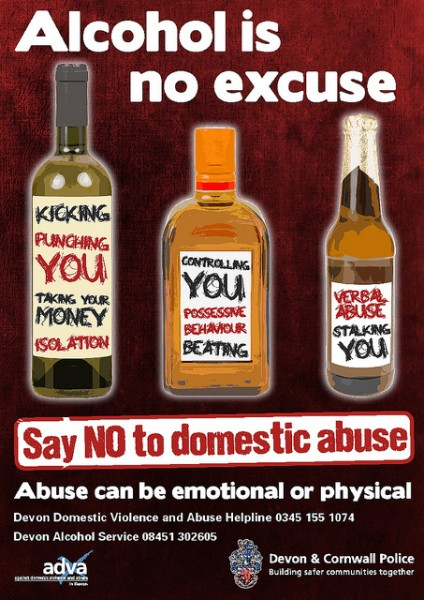 Alcohol-is-no-excuse-poster by furbearingbrick