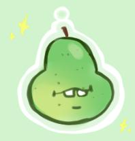 Super Amazing Pear Charm by Moemoehikikomori