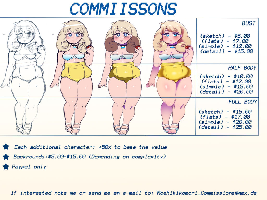 Commission info (CLOSED UNTIL FEBRUARY)