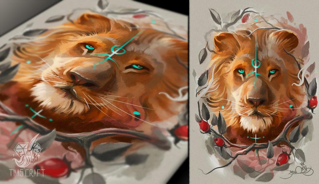 lion by black-3G-raven