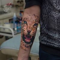 leopardus tattooatoris by black-3G-raven