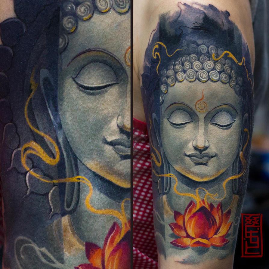 Tatoo bouddha galerie tatouage for Ravens face tattoos